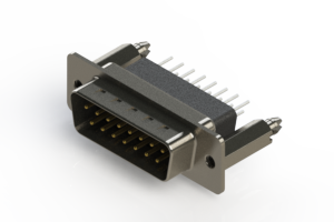 627-015-251-076 - Vertical Metal Body D-Sub Connector