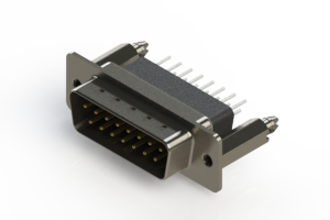 627-015-251-276 - Vertical Metal Body D-Sub Connector