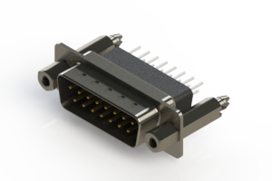 627-015-251-277 - Vertical Metal Body D-Sub Connector