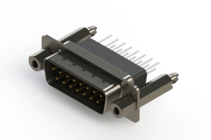 627-015-271-077 - Vertical Metal Body D-Sub Connector