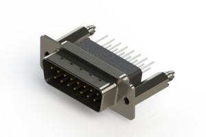 627-015-281-076 - Vertical Metal Body D-Sub Connector