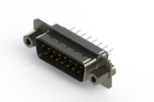 627-015-320-043 - Vertical Metal Body D-Sub Connector