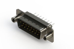 627-015-320-048 - Vertical Metal Body D-Sub Connector