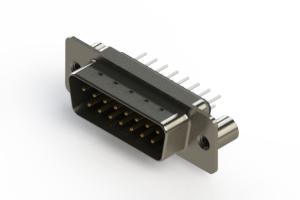 627-015-320-049 - Vertical Metal Body D-Sub Connector