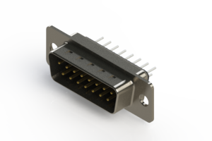 627-015-320-061 - Vertical Metal Body D-Sub Connector