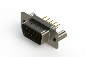 627-M09-220-BN3 - Vertical Machined D-Sub Connectors