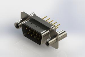 627-M09-220-BN4 - Vertical Machined D-Sub Connectors