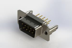 627-M09-220-BN5 - Vertical Machined D-Sub Connectors