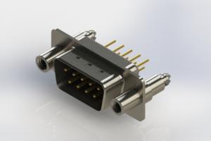 627-M09-220-BN6 - Vertical Machined D-Sub Connectors