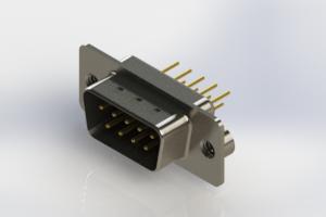 627-M09-220-BT2 - Vertical Machined D-Sub Connectors