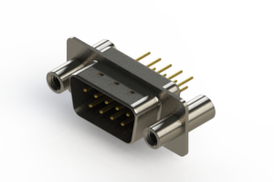 627-M09-220-BT4 - Vertical Machined D-Sub Connectors