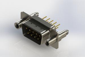 627-M09-220-BT6 - Vertical Machined D-Sub Connectors