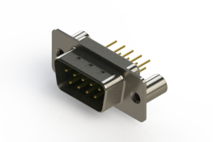 627-M09-220-GN3 - Vertical D-Sub Connector