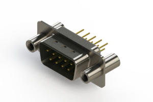 627-M09-220-GN4 - Vertical D-Sub Connector