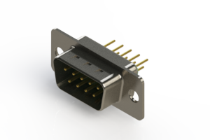 627-M09-220-GT1 - Vertical Machined D-Sub Connectors