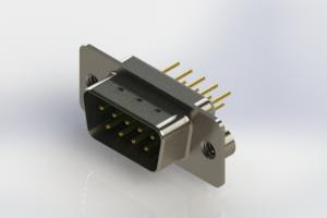 627-M09-220-GT2 - Vertical Machined D-Sub Connectors