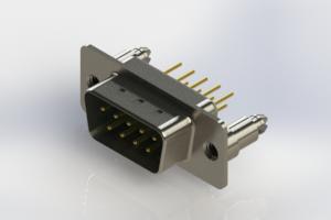 627-M09-220-GT5 - Vertical Machined D-Sub Connectors