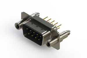 627-M09-220-LN6 - Vertical Machined D-Sub Connectors