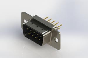 627-M09-220-LT1 - Vertical Machined D-Sub Connectors