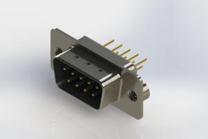 627-M09-220-LT2 - Vertical Machined D-Sub Connectors