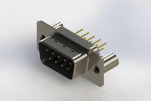 627-M09-220-LT3 - Vertical Machined D-Sub Connectors