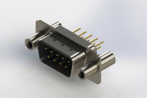 627-M09-220-LT4 - Vertical Machined D-Sub Connectors