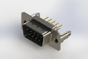 627-M09-220-LT5 - Vertical Machined D-Sub Connectors