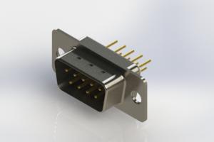 627-M09-220-WN1 - Vertical Machined D-Sub Connectors