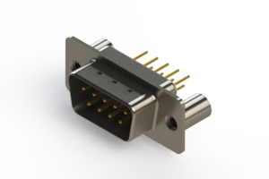627-M09-220-WN3 - Vertical Machined D-Sub Connectors