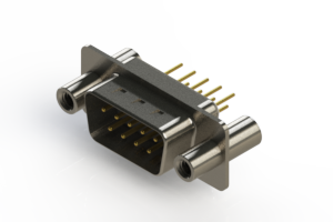627-M09-220-WN4 - Vertical Machined D-Sub Connectors