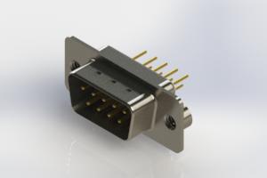 627-M09-220-WT2 - Vertical Machined D-Sub Connectors