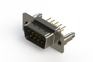 627-M09-220-WT5 - Vertical Machined D-Sub Connectors