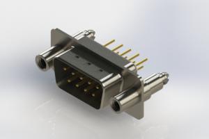 627-M09-220-WT6 - Vertical Machined D-Sub Connectors