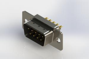 627-M09-222-BN1 - Vertical Machined D-Sub Connectors