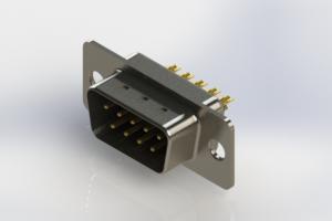 627-M09-222-BT1 - Vertical Machined D-Sub Connectors