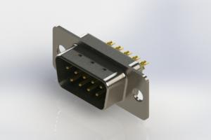 627-M09-222-GN1 - Vertical Machined D-Sub Connectors