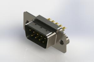 627-M09-222-GT2 - Vertical Machined D-Sub Connectors
