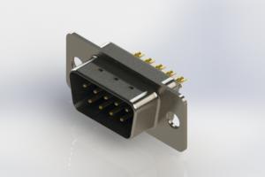 627-M09-222-LN1 - Vertical Machined D-Sub Connectors