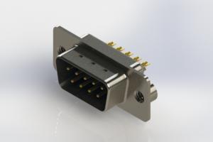 627-M09-222-LN2 - Vertical Machined D-Sub Connectors