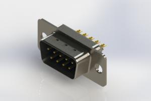 627-M09-222-LT1 - Vertical Machined D-Sub Connectors