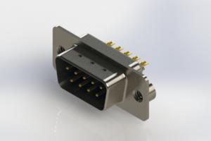 627-M09-222-LT2 - Vertical Machined D-Sub Connectors
