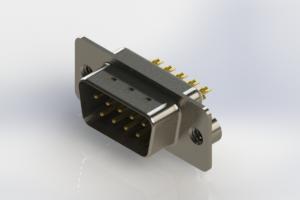 627-M09-222-WT2 - Vertical Machined D-Sub Connectors