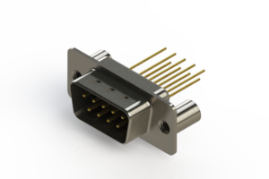627-M09-223-BN3 - Vertical Machined D-Sub Connectors