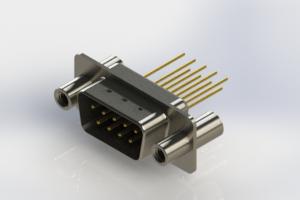 627-M09-223-BN4 - Vertical Machined D-Sub Connectors