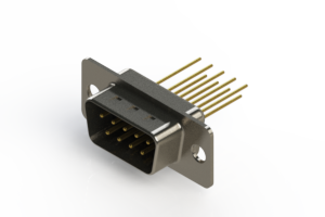 627-M09-223-BT1 - Vertical Machined D-Sub Connectors