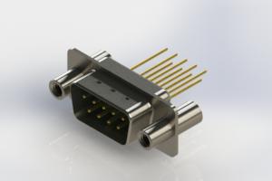 627-M09-223-GN4 - Vertical Machined D-Sub Connectors