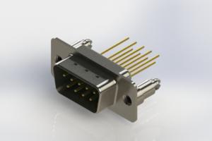 627-M09-223-GN5 - Vertical Machined D-Sub Connectors