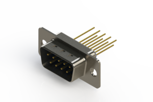 627-M09-223-LN1 - Vertical Machined D-Sub Connectors