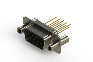 627-M09-223-LN4 - Vertical Machined D-Sub Connectors
