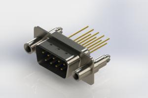 627-M09-223-LN6 - Vertical Machined D-Sub Connectors